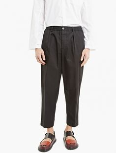 Marni,Black Relaxed Cotton Trousers,BLACK,1