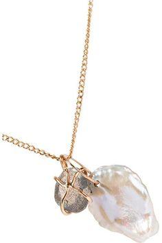 Melissa Joy Manning - 14-karat Gold, Pearl And Labradorite Necklace - one size