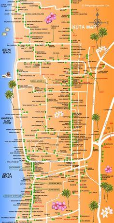 Kuta, Map, Bali