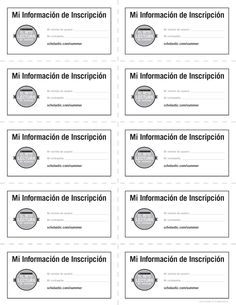 Student Information Sheet [Spanish Version] | Summer Reading Challenge 2015. Assign students their Summer Reading Challenge username/logins with this handy student information sheet! #summerreading