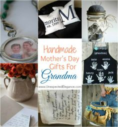 Mother's Day is soon!  Do you have a thoughtful gift in mind?  If your mom is also a grandma, maybe consider some of these handmade gifts!
