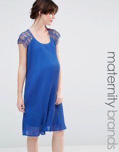 Mama.licious | Mamalicious Lace Detail Swing Dress at ASOS