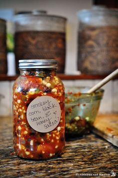 Smokey Corn, Black Bean, & Honey Salsa - Humblebee & Me Salsa Canning Recipes, Canning Corn, Canning Salsa, Black Bean Salsa Canning Recipe, Canning Homemade Salsa, Canned Corn Recipes, Canning Beans, Pan Dulce, Black Bean Corn Salsa