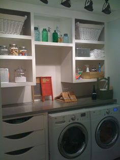 Desperately need shelves in my laundry...something like this would be great!
