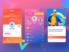 Online Lottery by Oleg Usachev for Avalanche Design on Dribbble Web Mobile, Mobile Web Design, Mobile App Ui, App Ui Design, Interface Design, Design Design, Lottery Website, Online Lottery, Lottery Games