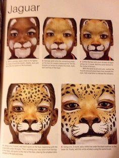 Wild cat- technique- jaguar- Brian & Nick Wolfe Extreme face painting