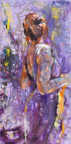 "Saatchi Art Artist Emelie Jegerings; Painting, ""Violet"" #art"
