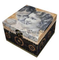 Handmade decorated jewelry box, Retro love jewelry box, Painted jewelry box, Gift jewelry box, Transylvania gift