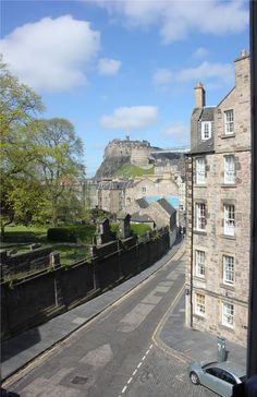 "View from the Elephant House Cafe' - the ""birthplace"" of Harry Potter - Edinburgh, Scotland"