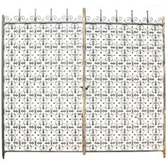 Pair of Century English Wrought Iron Driveway Gates Wrought Iron Driveway Gates, Garden Doors, Garden Gates, Door Gate, Modern Door, Corrugated Metal, Iron Work, Container Flowers, Country Estate