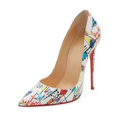 Christian Louboutin So Kate Loubitag Graffiti Red Sole Pump Shoes Stilettos, Pumps, Pump Shoes, Stiletto Heels, Shoe Boots, Shoes Heels, Fancy Shoes, Me Too Shoes, Mode Shoes