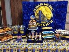 My sons Golden State Warriors dessert table #letsgowarriors #goldenstatewarriors