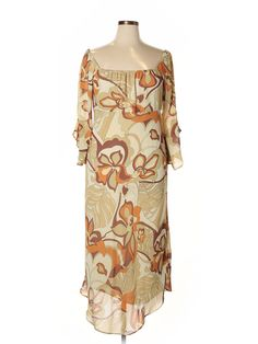 Ashley Stewart Casual Dress: Size 14.00 Brown Women's Dresses - $16.99