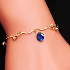 Xúc tiến Thương Hiệu new charm Vòng Đeo Tay mạ Vàng thời trang Nữ Trang Sức CZ Pha Lê Vòng Tay Đảng Jewelry