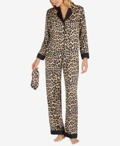 ce53d9bee4 kate spade new york Cheetah-Print Pajama Set With Embroidered Eye Mask  Women - Bras