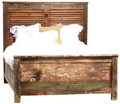 Shabby Chic Queen Size Panel Bed Frame  (http://www.zinhome.com/shabby-chic-queen-size-panel-bed-frame/)