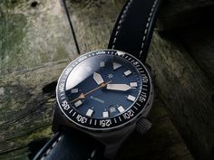 Halios Bluering. Brushed No. 73/100. 300m. ETA 2824-2 (Special request black bezel) What appealed to me about this watch was the vintage look. Halios, a 'micro-brewery' watch company ba…