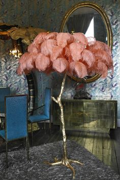 Coral feather lamp