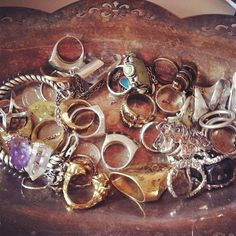 #rings #indie #boho #fashion #hipster #silver #gold