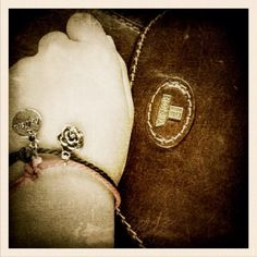 My friendship bracelets and leather Bonia bag from mom.