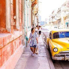 Weekend stroll. @amyanaizphoto // Havana Cuba. #travelnoire #havana