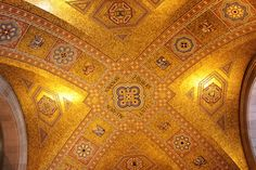 """Royal Ontario Museum - Toronto, ON, Canada. ceiling of rotunda.""""Royal Ontario Museum--Canada's largest museum of world cultures and natural history is simply amazing! Royal Ontario Museum, World Cultures, Natural History, Toronto, Places To Visit, Ornament, Canada, Ceiling, Amazing"""