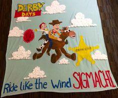 University of Arizona Sigma Kappa and Sigma Chi Derby Days banner, Disney's toy story inspired #sigmakappa #sorority #toystory