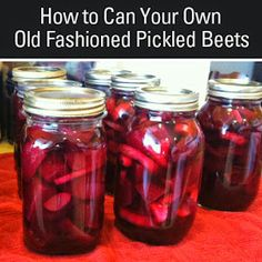 Homemade Pickled Beets Recipe, Canned Beets Recipe, Pickled Beets And Eggs, Canned Pickled Beets, Canning Beets, Canning Pickles, Canning Vegetables, Homemade Pickles, Veggies