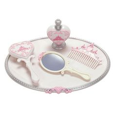 Disney Princess and Me Royal Vanity Set -- 5-Pc. by Disney. $6.98. Perfume BottleAdditional Information:. Comb. Tray. Brush. Mirror. Set Includes:. Brush. Comb. Mirror. Tray. Perfume Bottle. Additional Information:. Plastic. Up to 8'' W x 6'' H. Ages 6+. Imported. Coordinates with our Princess and Me Dolls, sold separately. Look for Princess and Me Dolls, Princess and Me Tea Party Fashions, Gowns, Accessories, and Matching Princess Dresses for your little girl, each sold ...