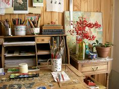 The inspiring studio of Gustavo Aimar...