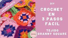 COMO TEJER UN CUADRADO A CROCHET SIENDO PRINCIPIANTE - 30 MINUTOS -FÁCIL - GRANNY SQUARE | NIÑA MOZZA #crochet  #crochetaddict  #tejidos  #tejer  #diy  #diyprojects  #crochetprojects  #manualidades  #aprende  #lana