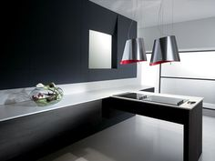 Wall mounted glass cooker hood mini om by elica