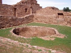 Abo Ruins, Salinas Pueblo Missions National Monument, near Gran Quivira, New Mexico -  Abó Ruins are located at about 6100 feet above sea level. They are said to date back to the 1300s. It was a major trading station during its time.
