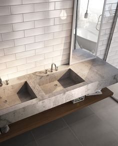 Light pink tiles for bathroom and kitchen wall coverings - Sabbia, Colordesign - Iris Ceramica - CALX Kitchen Wall Covering, Brick Effect Wall Tiles, Iris, Pink Tiles, Tile Suppliers, Bad Inspiration, Ceramic Wall Tiles, Vanity Sink, Modern Bathroom