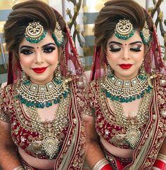 23 Ideas Wedding Makeup Asian Bronze 23 Ideen Hochzeit Make-up Asi Indian Wedding Makeup, Bridal Eye Makeup, Indian Wedding Bride, Bridal Makeup Looks, Bride Makeup, Asian Bridal Wear, Indian Bridal Outfits, Indian Bridal Fashion, Bridal Makeup Pictures