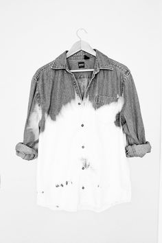 Seriously consider doing this! Bleach dip denim shirt