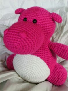 Hilda the Hippo Crochet Amigurumi PATTERN ONLY by daveydreamer, $3.50