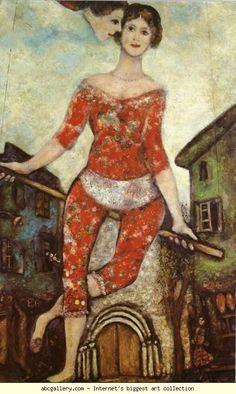 The Acrobat. 1930. Oil on canvas // Marc Chagall. Musée National d'Art Moderne, Centre Georges Pompidou, Paris