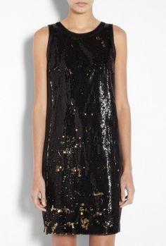 MICHAEL Michael Kors | Sleeveless Sequin Raw Edge Dress by MICHAEL Michael Kors