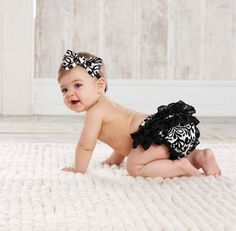Girls Clothing by Size :: months :: Damask Bloomers and Headband Set - Mud Pie - Little girls boutique, baby girl clothes, toddler clothing, kids accessories. Little Baby Girl, Little Babies, Baby Love, Baby Kids, Baby Baby, Girls Boutique, Baby Boutique, Toddler Boutique, Boutique Clothing