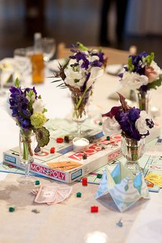 14 Inspiring Wedding Table Name Ideas: classic boardgames.