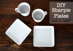 DIY Sharpie Plates