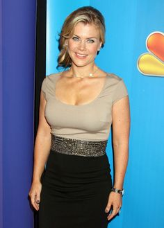 Alison Sweeney Celebrities attending the 2011 NBC Upfront event.