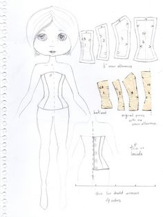 Let's Make a Blythe Corset! (my hand-drafted corset pattern) by Trio Blythe, via Flickr