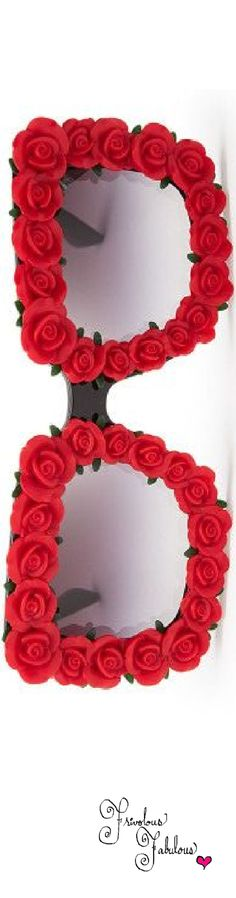 Frivolous Fabulous - Dolce & Gabbana Red Roses Glasses