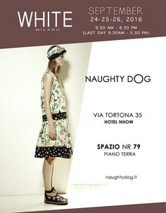 We are glad to announce that Naughty Dog will present its Spring Summer 2017 collection at the White Trade Show Milan edition, which will take place at Nhow hotel from the 24th to the 26th of September!   ...Stay tuned for more info!
