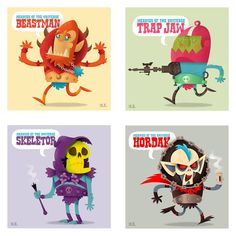 He-Man meanies, by Matt Kaufenberg.