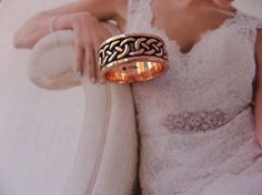 Copper Ring CRI1359 -  Size 9 - 5/16 of an inch wide