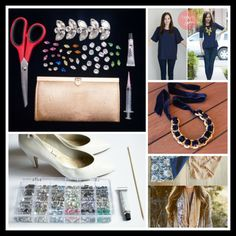 From spruced up heels to glamtastic accessories, these 5 DIY fashion tutorials are sure to have your 2014 wardrobe looking absolutely fabulous! Diy Fashion Projects, Diy Projects, Diy Fashion Tops, How To Introduce Yourself, Make It Yourself, Absolutely Fabulous, Diy Home Crafts, Paper Crafts, Style Inspiration