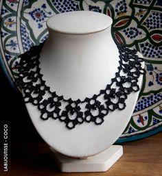 Mademoiselle Célie  (my own design)  lace bead necklace
